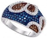 Mix Color Diamond Fashion Ring 10K White Gold 1.00 ct. GD-87125