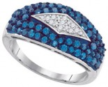 Blue Diamond Fashion Band 10K White Gold 1.00 ct. GD-87145