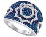 Blue Diamond Fashion Band 10K White Gold 1.00 ct. GD-87152