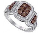 Ladies Diamond Fashion Ring 10K White Gold 0.33 cts. GD-87164