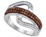 Ladies Diamond Fashion Ring 10K White Gold 0.33 cts. GD-87165