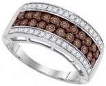 Ladies Diamond Fashion Band 10K White Gold 0.45 cts. GD-87167