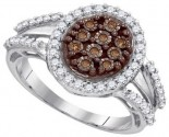 Ladies Diamond Fashion Ring 10K White Gold 0.50 cts. GD-87169