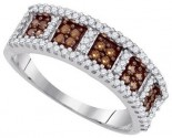 Ladies Diamond Fashion Band 10K White Gold 0.45 cts. GD-87170
