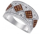 Ladies Diamond Fashion Ring 10K White Gold 0.65 cts. GD-87172