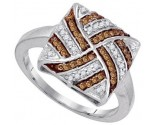Ladies Diamond Fashion Ring 10K White Gold 0.25 cts. GD-87173