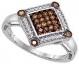 Ladies Diamond Fashion Ring 10K White Gold 0.28 cts. GD-87179