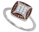 Ladies Diamond Fashion Ring 10K White Gold 0.25 cts. GD-87181