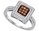 Ladies Diamond Fashion Ring 10K White Gold 0.25 cts. GD-87182
