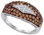 Ladies Diamond Fashion Ring 10K White Gold 1.00 ct. GD-87183