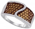 Ladies Diamond Fashion Ring 10K White Gold 0.75 cts. GD-87184