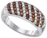 Ladies Diamond Fashion Ring 10K White Gold 0.70 cts. GD-87187