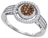 Ladies Diamond Fashion Ring 10K White Gold 0.35 cts. GD-87189