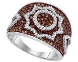 Ladies Diamond Fashion Ring 10K White Gold 1.00 ct. GD-87190