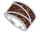 Ladies Diamond Fashion Ring 10K White Gold 1.00 ct. GD-87191