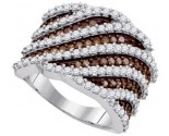 Ladies Diamond Fashion Ring 10K White Gold 1.83 cts. GD-87193