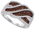 Ladies Diamond Fashion Ring 10K White Gold 0.35 cts. GD-87194