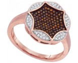 Ladies Diamond Fashion Ring 10K Rose Gold 0.33 cts. GD-88340