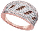 Ladies Diamond Fashion Ring 10K Rose Gold 0.40 cts. GD-88356