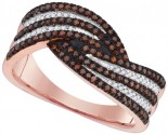 Ladies Diamond Fashion Ring 10K Rose Gold 0.40 cts. GD-88358