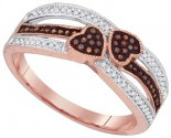 Ladies Diamond Heart Ring 10K Rose Gold 0.20 cts. GD-88361