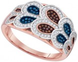 Ladies Diamond Fashion Ring 10K Rose Gold 0.40 cts. GD-88366