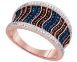 Ladies Diamond Fashion Ring 10K Rose Gold 0.40 cts. GD-88368