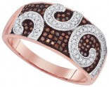 Ladies Diamond Fashion Ring 10K Rose Gold 0.35 cts. GD-88374