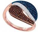 Ladies Diamond Fashion Ring 10K Rose Gold 0.50 cts. GD-88378