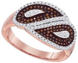 Ladies Diamond Fashion Ring 10K Rose Gold 0.40 cts. GD-88400