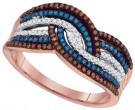 Ladies Diamond Fashion Ring 10K Rose Gold 0.40 cts. GD-88405