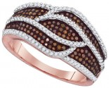 Ladies Diamond Fashion Ring 10K Rose Gold 0.60 cts. GD-88477