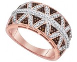Ladies Diamond Fashion Ring 10K Rose Gold 0.40 cts. GD-88482