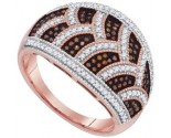 Ladies Diamond Fashion Ring 10K Rose Gold 0.50 cts. GD-88483