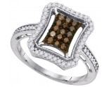 Ladies Diamond Fashion Ring 10K White Gold 0.50 cts. GD-89392