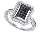 Black Diamond Fashion Ring 10K White Gold 0.50 cts. GD-89394