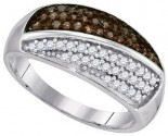 Ladies Diamond Fashion Band 10K White Gold 0.50 cts. GD-89406