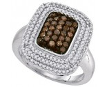 Ladies Diamond Fashion Ring 10K White Gold 0.75 cts. GD-89414