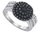 Black Diamond Fashion Ring 10K White Gold 0.75 cts. GD-89422