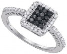 Black Diamond Fashion Ring 10K White Gold 0.45 cts. GD-89444