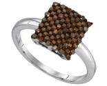Ladies Diamond Fashion Ring 10K White Gold 0.50 cts. GD-89449