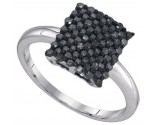 Black Diamond Fashion Ring 10K White Gold 0.50 cts. GD-89454