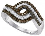 Ladies Diamond Fashion Ring 10K White Gold 0.50 cts. GD-89460