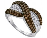 Ladies Diamond Fashion Ring 10K White Gold 1.00 ct. GD-89471