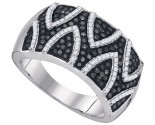 Black Diamond Fashion Ring 10K White Gold 0.65 cts. GD-89476