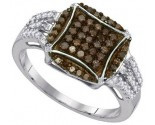 Ladies Diamond Fashion Ring 10K White Gold 0.45 cts. GD-89480