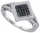Black Diamond Fashion Ring 10K White Gold 0.33 cts. GD-89494