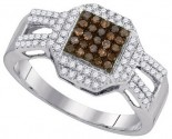 Ladies Diamond Fashion Ring 10K White Gold 0.40 cts. GD-89514