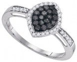 Black Diamond Fashion Ring 10K White Gold 0.33 cts. GD-89515