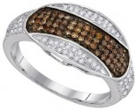 Ladies Diamond Fashion Band 10K White Gold 0.45 cts. GD-89521